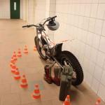 In der Zweiradwerkstatt gab es interessante Einblicke in die Welt des Motorsports.
