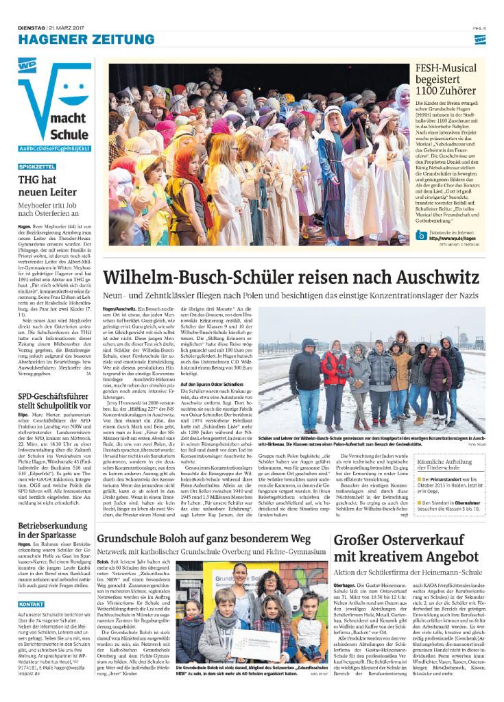 WBS, Homepage, 2016-2017, KZ Zeitungsseite