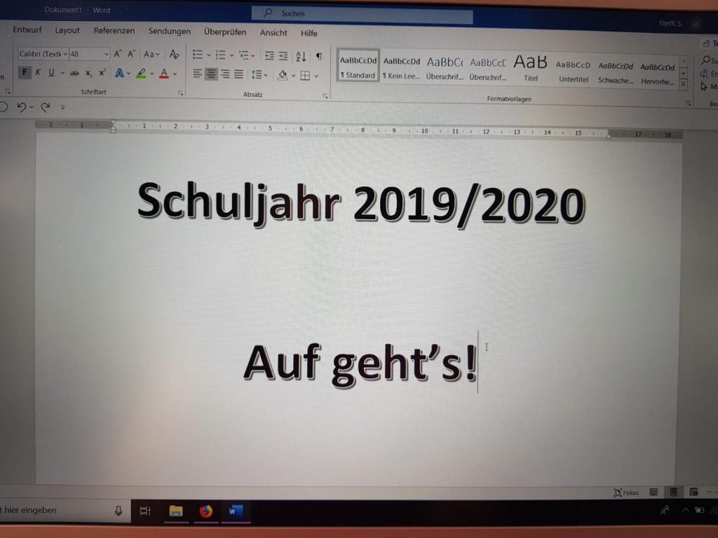 Homepage, Foto, 2019.09 Schulstart
